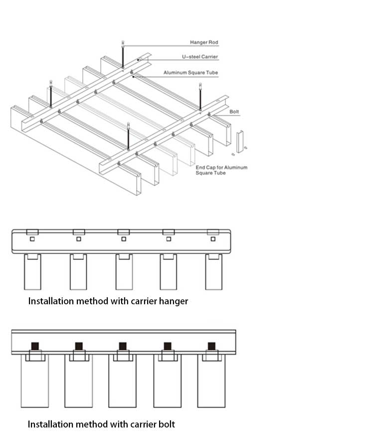 aluminum-profile-baffle-ceiling-installation-structure