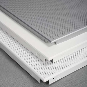 Office Meeting Room Acoustical Perforated Aluminum Ceiling Tiles