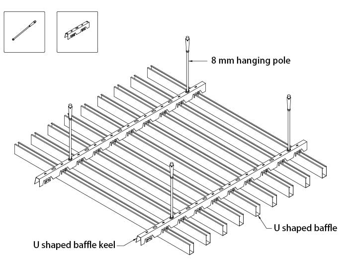 u-shaped-baffle-ceiling-structure