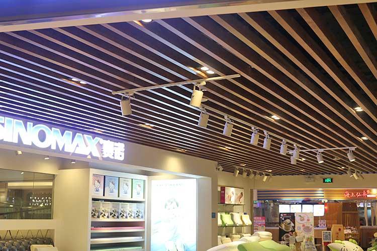 wood-color-aluminum-baffle-ceiling-system