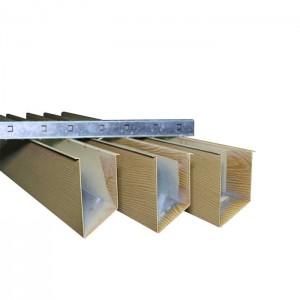 Wood Color Aluminum Baffle Ceiling Tiles