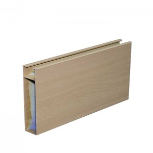 Wood Grain Aluminum Profile Baffle Ceiling Tiles for Shopping Mall
