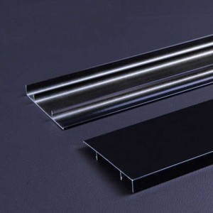 1.0mm Thick Black PE Coating Aluminum Skirting Board Panel