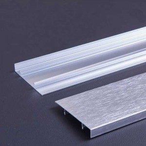 Brighten Wire Drawing Aluminum Alloy Baseboard for Wall Protection
