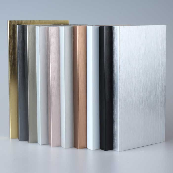 1.0 mm Thick Electrolytic Oxidation Aluminum Alloy Skirting Board