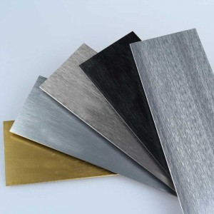 1.0 mm thick Brushed Wire drawing Aluminum Baseboard Floor Decoration