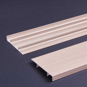 1.0mm Thick Cedar Wood Grain Aluminum Baseboard for Wall Protection