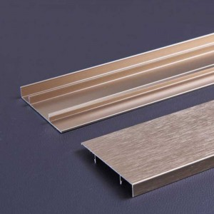 1.0mm Thick Champagne Brushed Wire Aluminum Skirting Panel