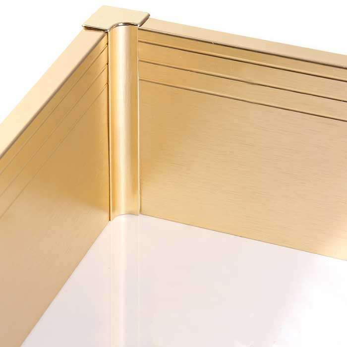 Electrolytic Oxidation Aluminum Alloy Skirting Board for Decoration