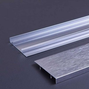 1.0mm Thick Iron Grey Wire Drawing Aluminum Baseboard