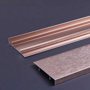 60 mm Height Aluminum Profile Skirting Board
