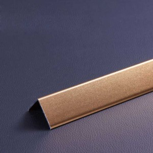 1.0 mm Thick Scrub Titanium Gold Color Aluminum Skirting Panel for Wall Corner Decor