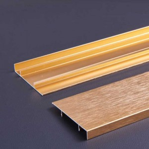 1.0 mm Thick Titanium Color Aluminum Skirting Board