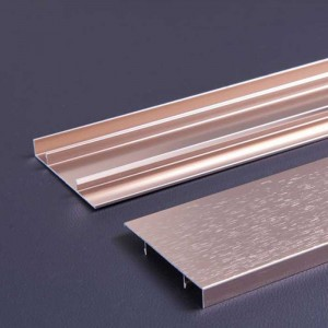 0.8mm Thick Violet Gold Color Aluminum Alloy Skirting Panel