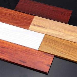 1.0 mm thick Wood Grain Aluminum Alloy Skirting Board