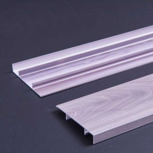 1.0mm Thick Wood Grain Aluminum Skirting Panel for Indoor Decoration