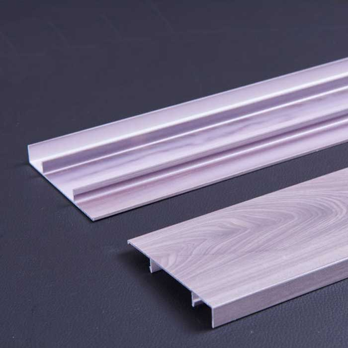 1.2 mm Thick Wood Grain Aluminum Skirting Panel for Indoor Decoration