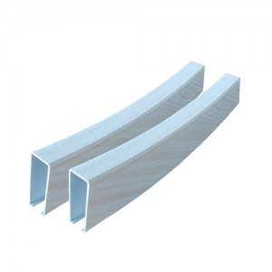Curved Baffle Aluminum Ceiling