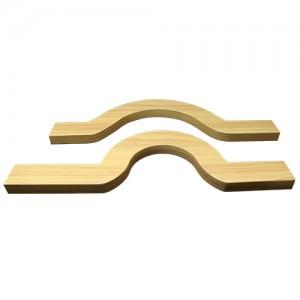 Wood Grain Curved Baffle Aluminum Ceiling