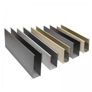 1.0 mm u shaped aluminum baffle ceiling tiles