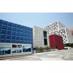 Art Exterior Wall Hollow-Out Perforated Aluminum Cladding Panel
