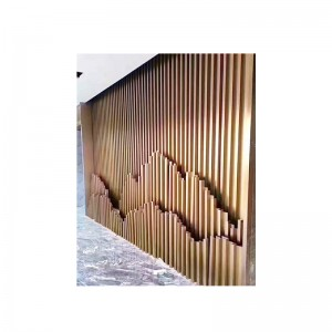 Vertical Strip Stainless Steel Background Wall