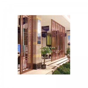 Chinese Style Stainless Steel Screen For Dining Area