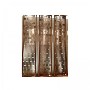 Chinese Brushed Rose Gold Stainless Steel Screen